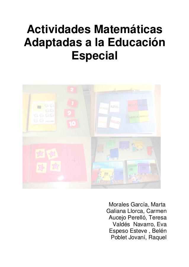 Actividades Matemáticas Adaptadas a la Educación Especial ...